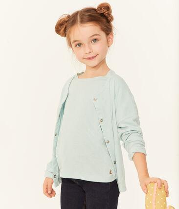 Cardigan bambina blu Crystal