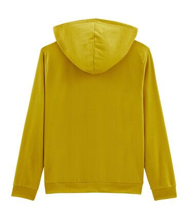 Felpa con cappuccio donna giallo Bamboo