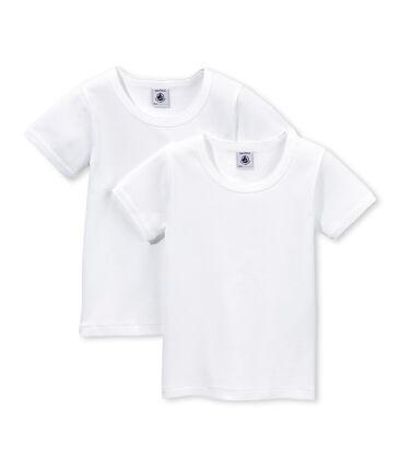 Lotto di 2 t-shirts a punto cocotte