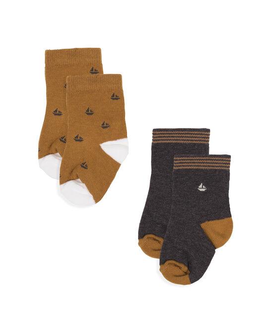 Confezione da 2 paia di calzini bebè maschio grigio City Chine