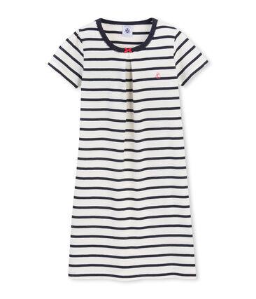 Camicia da notte per bambina a righe