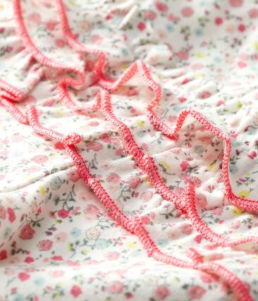 Leggings stampati bebè femmina bianco Marshmallow / bianco Multico