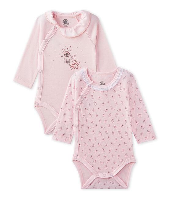 Lotto di 2 bodies nascita maniche lunghe per bebé femmina lotto .