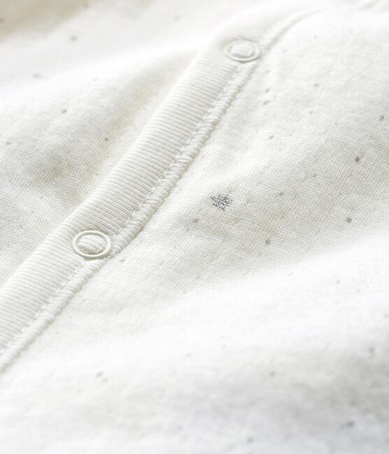 Combisac bebè in tubique bianco Marshmallow / bianco Multico
