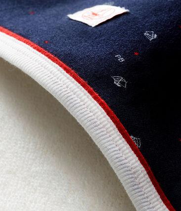 Scatola regalo con telo da bagno stampato per bebé maschio blu Smoking / bianco Multico