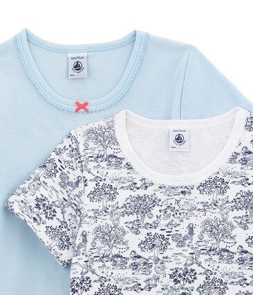 Lotto di 2 t-shirts a maniche corte per bambina