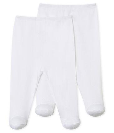 Confezione da 2 pantaloni con i piedi bebè
