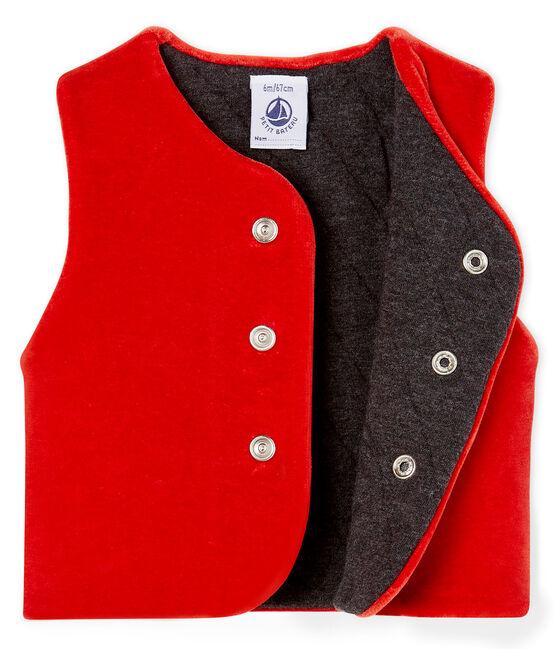 Gilè senza maniche da bebè maschio rosso Terkuit