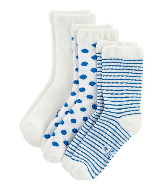 Confezione da 3 paia di calzini bambina lotto .