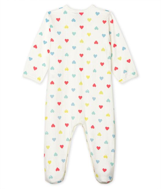 Tutina pigiama bebè femmina in tubique bianco Marshmallow / bianco Multico