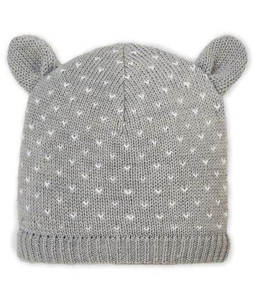 Cappello foderato in pile per bebé unisex grigio Subway / bianco Marshmallow