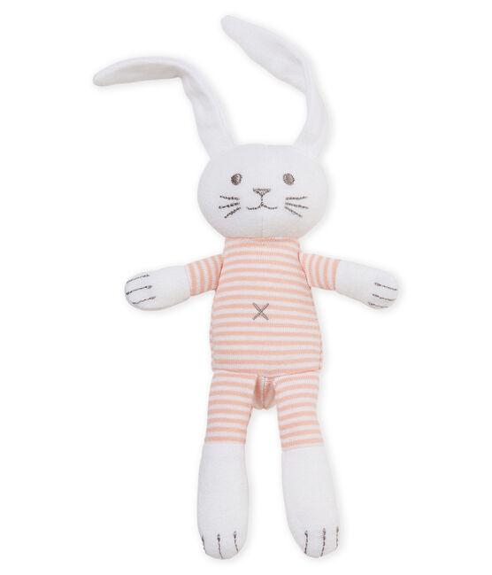Coudou coniglietto sonaglio bebè unisex rosa Rosako / bianco Marshmallow