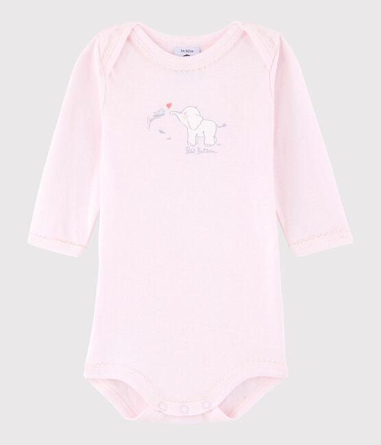 Body manica lunga bebè femmina rosa Vienne