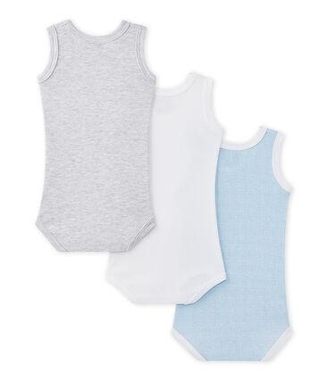 Lotto di 3 bodies per bebé maschio smanicati