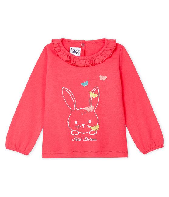 Blusa a manica lunga bebè femmina rosa Groseiller