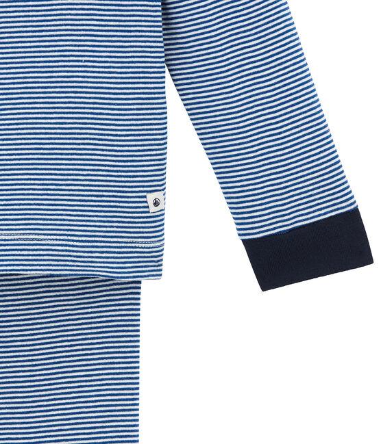 Pigiama per bambino blu Limoges / bianco Marshmallow