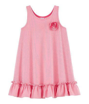 Abito bambina rosa Geisha / bianco Marshmallow