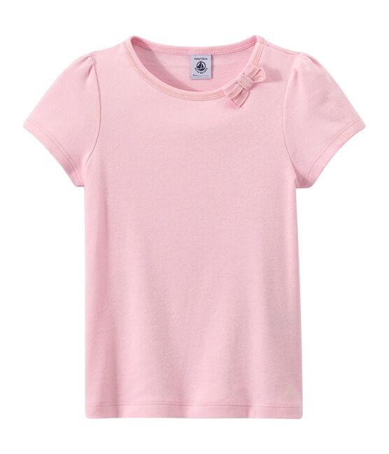 T-shirt bambina con fiocco rosa Babylone