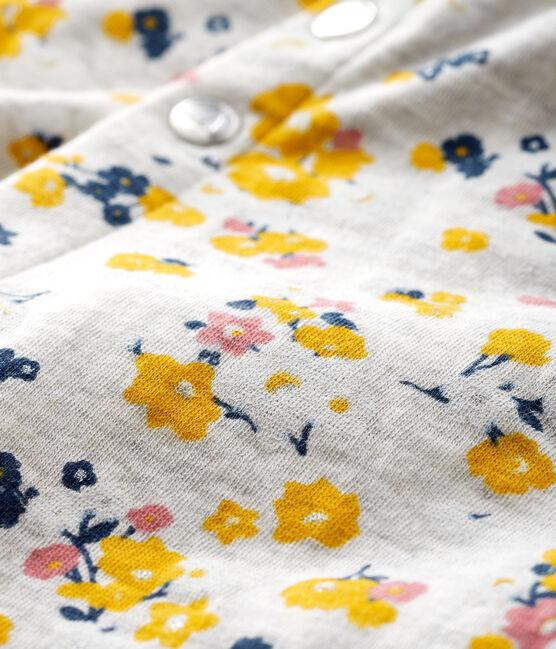Cardigan bebè femmina in tubique beige Montelimar / bianco Multico