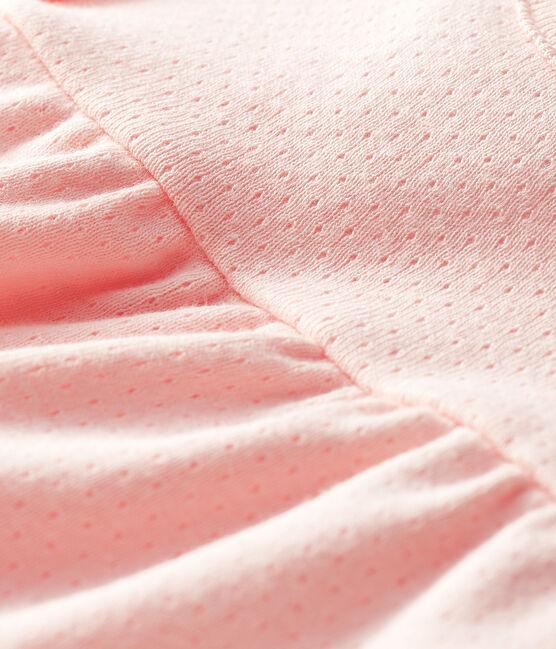 Blusa manica corta bebè femmina a tinta unita. MINOIS