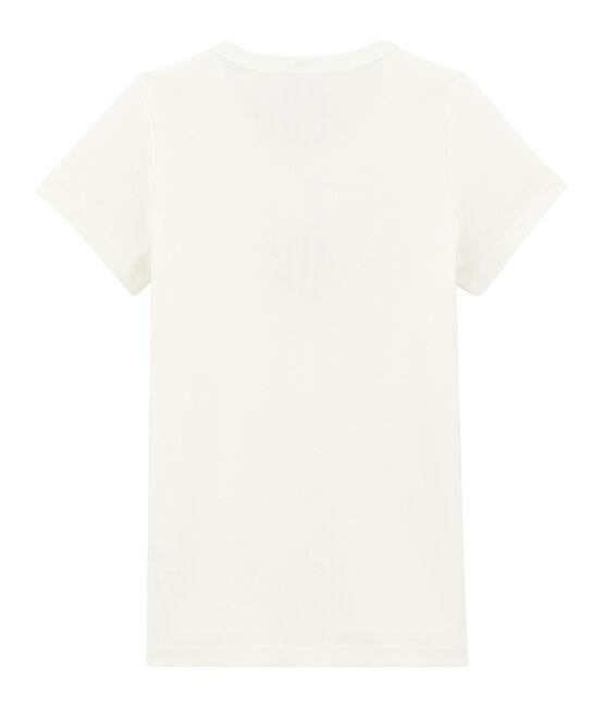 tee-shirta maniche corte per bambina bianco Marshmallow