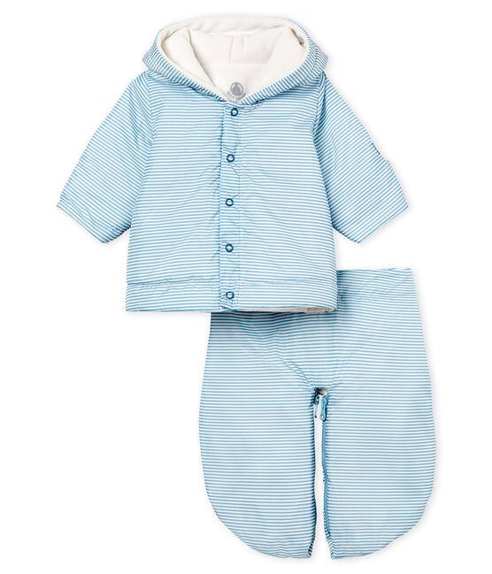 Titina da pilota 3 in 1 bebè unisex blu Fontaine / bianco Marshmallow