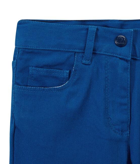 Pantalone bambina in jeans colorato blu Perse