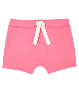 Short bebè unisex a tinta unita rosa Cupcake