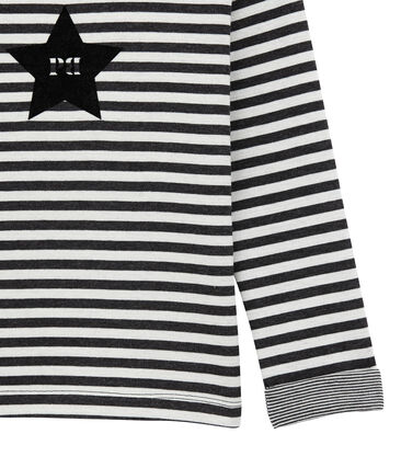 tee-shirtmaniche lunghe in jersey doppiato per bambino