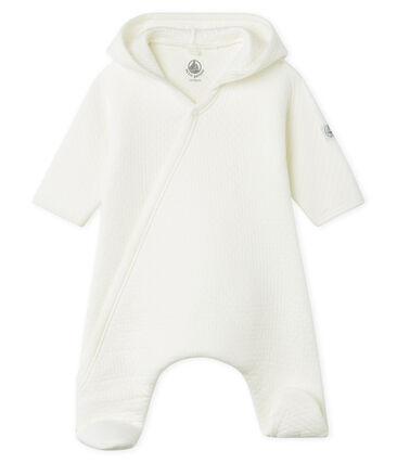 Tutina lunga bebè in tubique trapuntato bianco Marshmallow