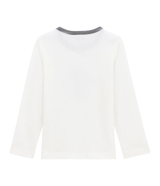 tee-shirta maniche lunghe bambino bianco Marshmallow