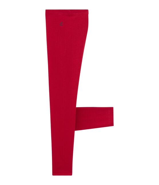 Legging bambina rosso Terkuit