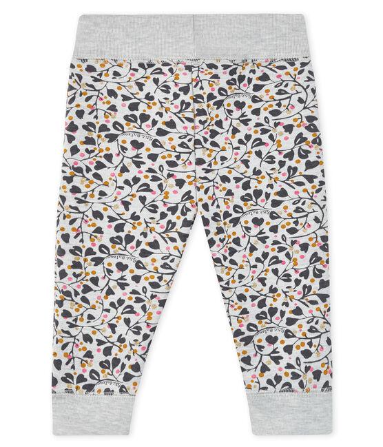 Pantaloni da jogging bebé femmina grigio Beluga / bianco Multico