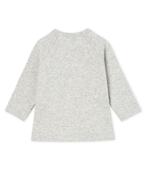T-shirt a manica lunga bebè femmina grigio Beluga