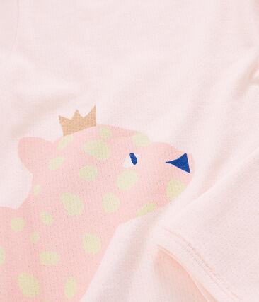 Pigiama bambina a costine rosa Fleur