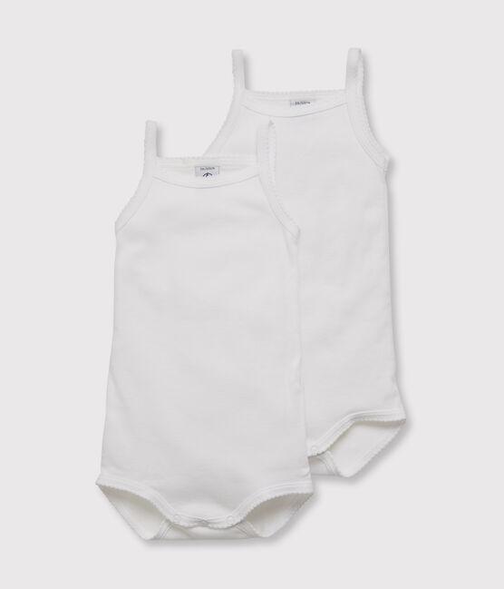 Confezione da 2 body con spalline bebè femmina lotto .