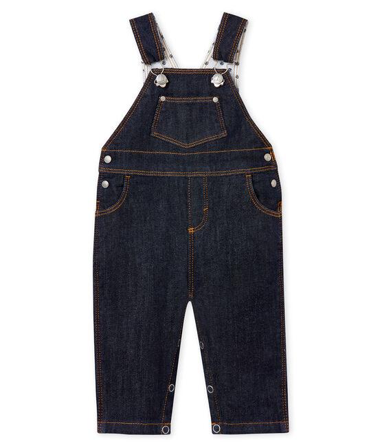 Salopette lunga bebè unisex in jeans blu Jean
