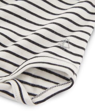 Body manica lunga e dolcevita bebè unisex bianco Marshmallow / nero City