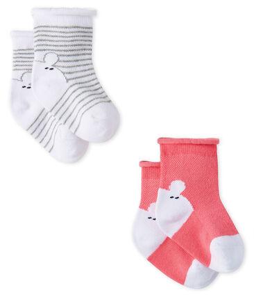 Confezione da 2 paia di calzini bebè unisex