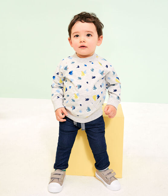 Pantalone bebè maschio in molleton a tinta unita SMOKING