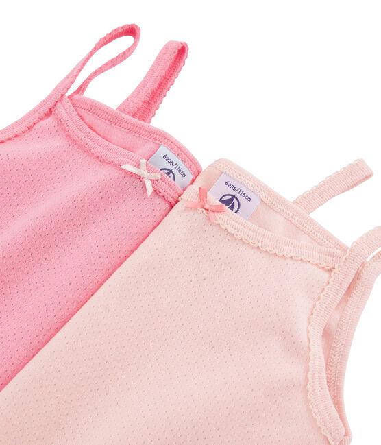 Confezione da 2 camicie da notte con spalline color pastello bambina lotto .