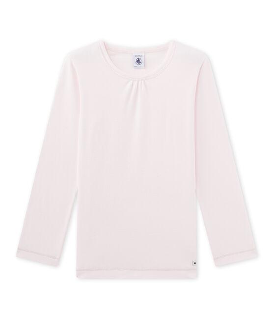 T-shirt bambina per pigiama rosa Vienne