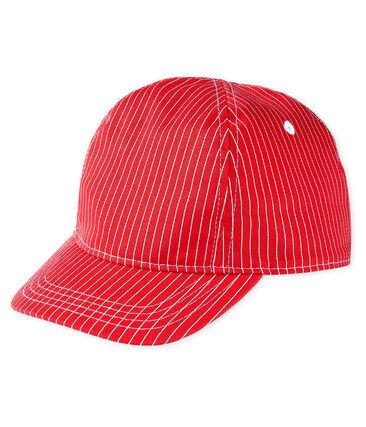 Cappellino bebè unisex rosso Peps / bianco Marshmallow