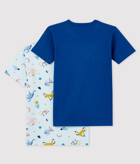 Confezione da 2 t-shirt manica corta animali yoga bambino lotto .