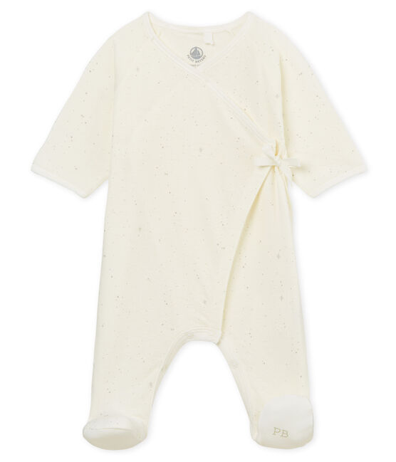 Tutina pigiama bebè unisex bianco Marshmallow / bianco Multico