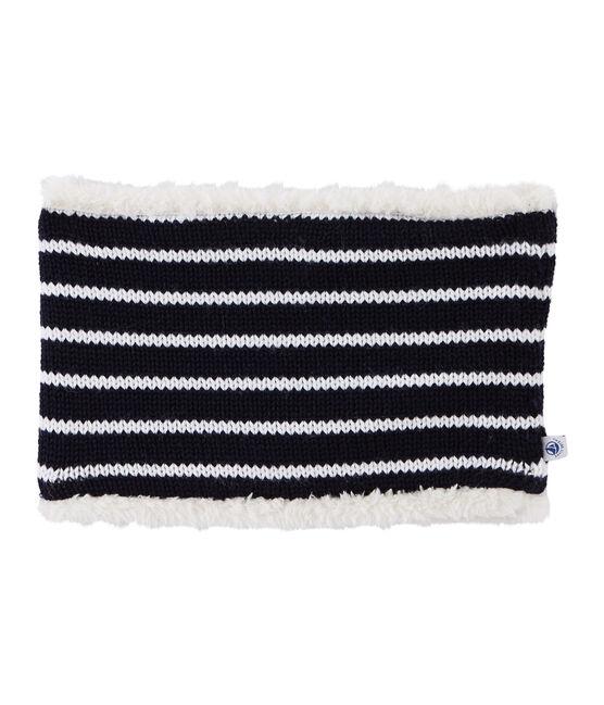 Ampia fascia paraorecchie bambino unisex blu Smoking / bianco Marshmallow