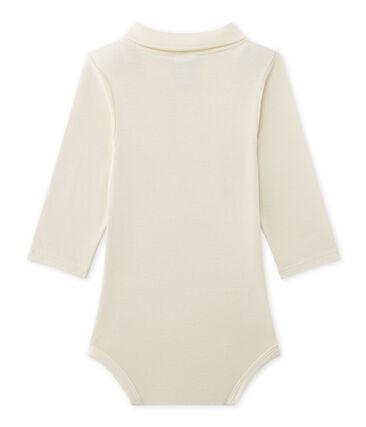 Body bebé maschio con colletto beige Coquille