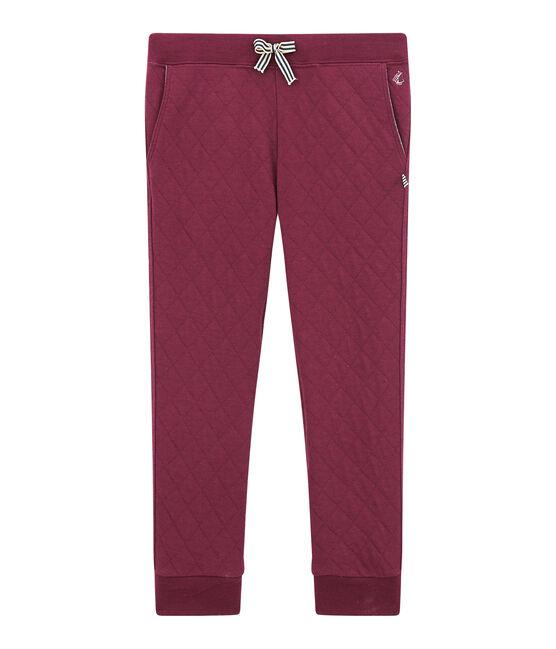 Pantalone in tubique matelassé per bambino rosso Ogre
