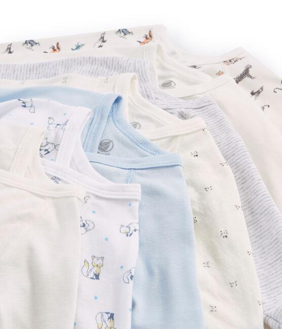 Pochette sorpresa di 7 body nascita a manica lunga bebè maschio lotto .