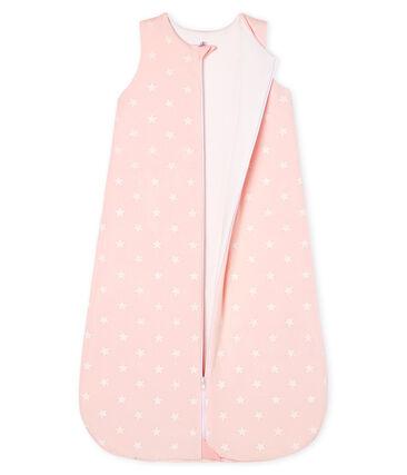 Sacco nanna bebé femmina in ciniglia rosa Minois / bianco Marshmallow